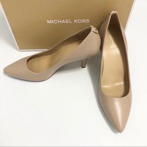 Michael Kors MK flex Mid Pump Nude Heels